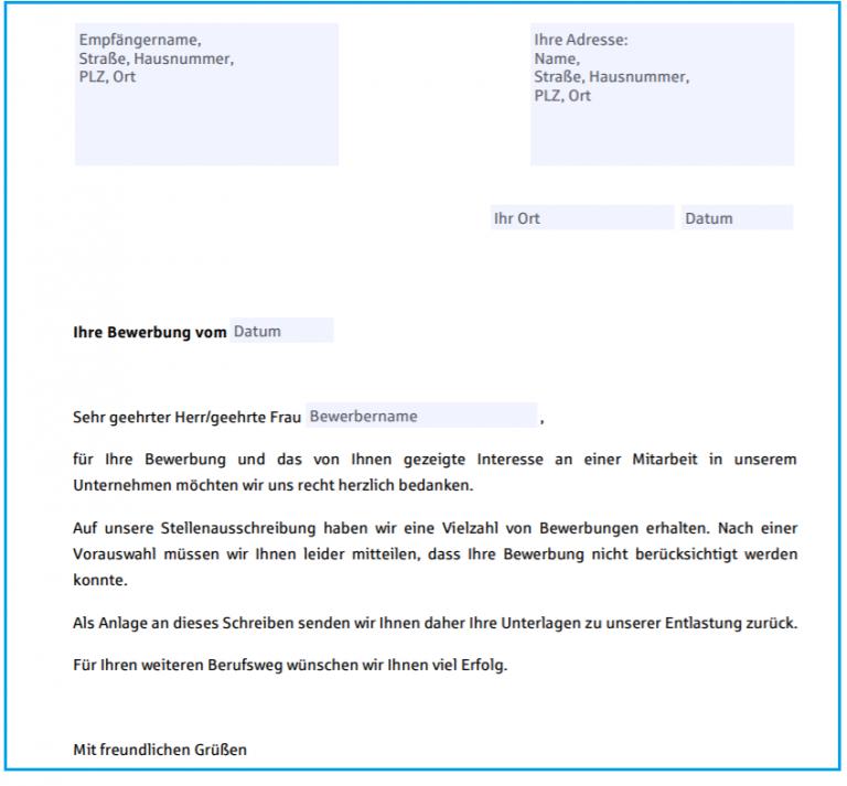 Wie kann man ein Absageschreiben richtig schreiben - GERMANIA
