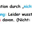"""Negation durch """"nicht"""" oder """"nichts"""""""